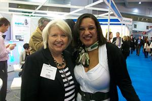 Fab! director Julie Cooper and South African Tourism`s Donna Abberley