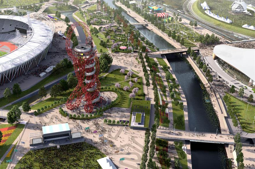 CGI of Queen Elizabeth Olympic Park, London