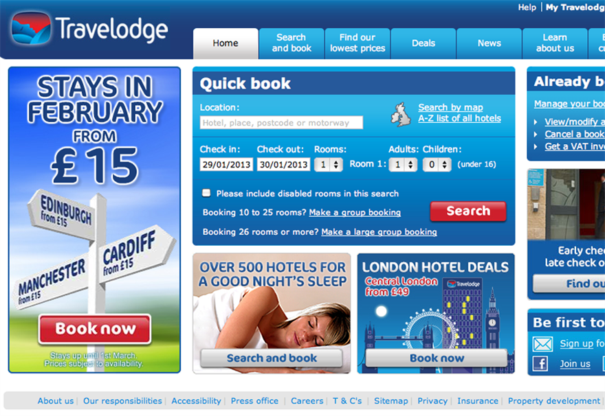 Travelodge plans £223m investment