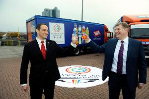 Glasgow 2014's David Grevemberg and AG Barr chief executive Roger White reveal Commonwealth Games sponsorship