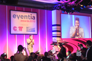 X Factor's Paije Rochardson performed at the Eventia Awards