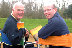 Plus Fore Golf director Bryan Moore (left) and Leisure Link golf manager Neil Bird (right)