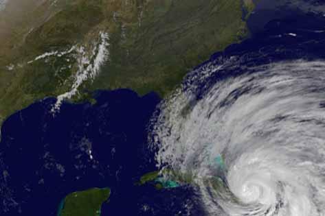 Hurricane Sandy from satellite