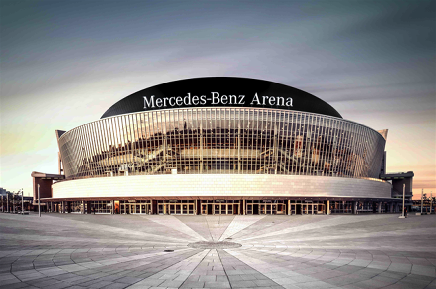 AEG's venue in Berlin will be known as Mercedes-Benz Arena from 1 July