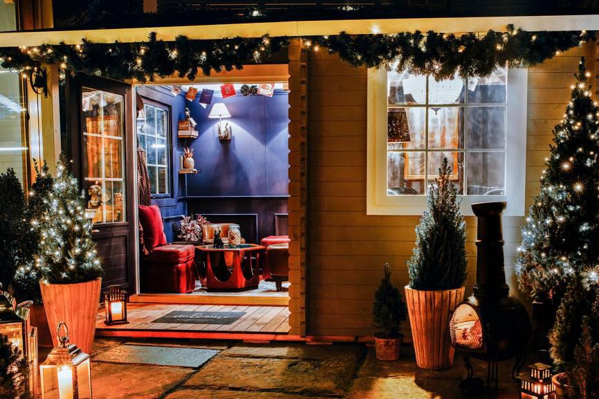 An Awfully British Winter Cabin