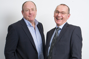 Line Up managing director Duncan Beale and Inchcape group communications director Ken Lee
