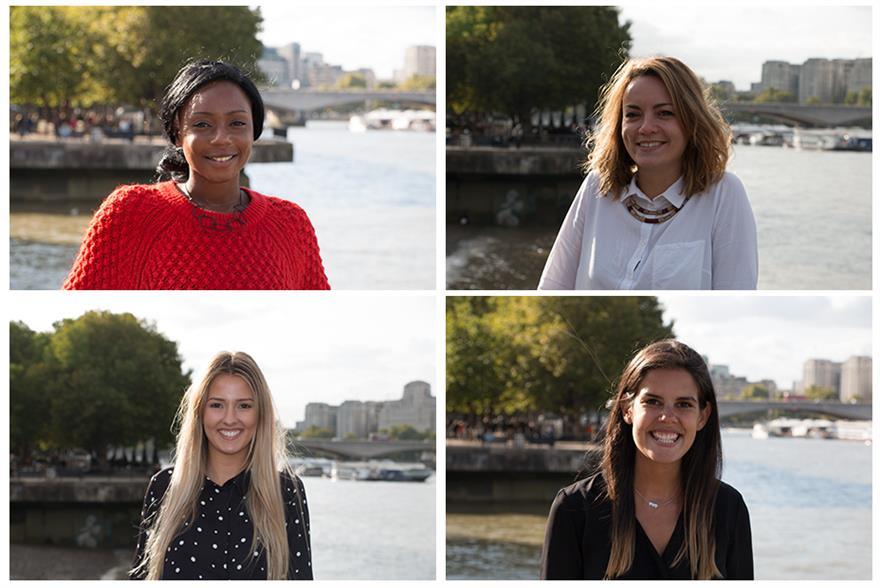 Clockwise from top left: Ishta Nyakoojo, Clemence Roze, Roxy Kaye, Laura Mills