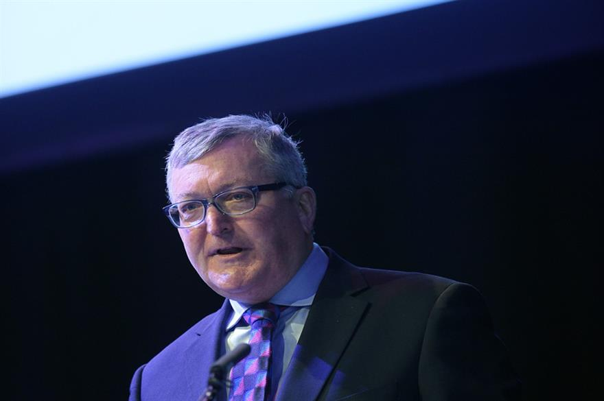 Tourism Minister Fergus Ewing addresses the conference