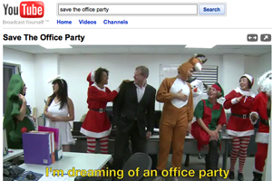 Save the Office Party You Tube video