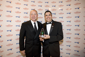 BT Visit London Corporate Event of the Year accepted by Excel London