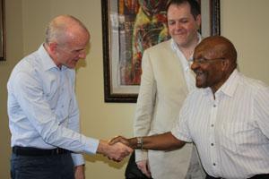 Archbishop Desmond Tutu meets event planners