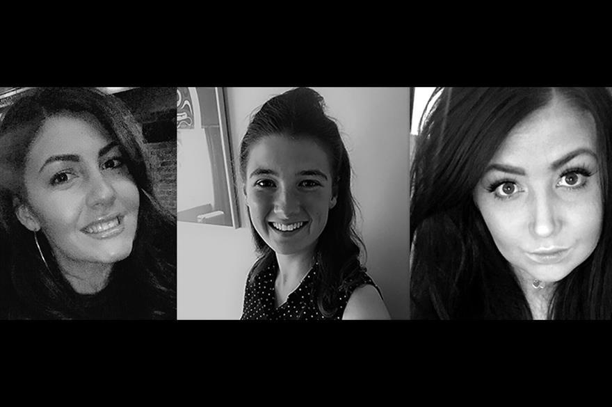 Left to right: Chloe Usher, Becca Haberfield and Chloe Hamilton