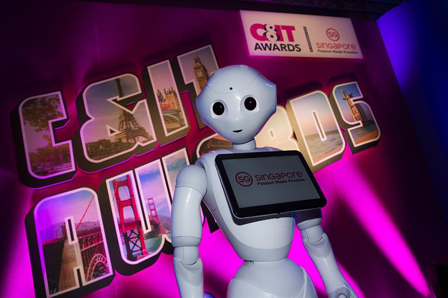 Singapore's Pepper the Robot greeted guests on arrival as well as announcing some winners on stage