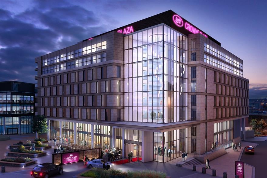 Newcastle's new Crowne Plaza hotel