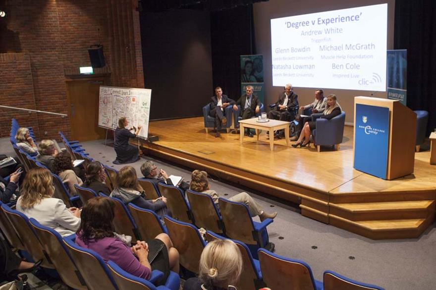 The event concluded with a debate on the topic of 'Degree versus Experience'