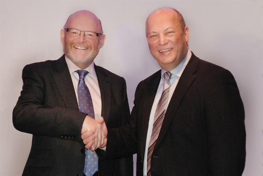 DRP group managing director Dale Parmenter and Grosvenor TV managing director Des Good