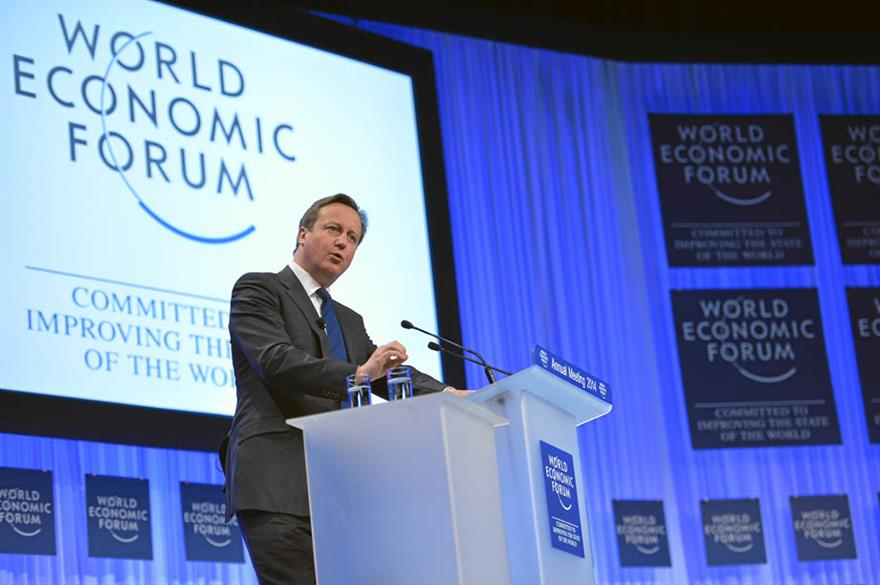 David Cameron at World Economic Forum, Davos 2014