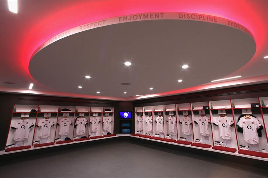 England changing room, Twickenham Stadium