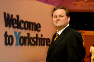 "Welcome to Yorkshire chief executive Gary Verity: ""We are aiming to give Yorkshire increased global reach and attract leisure and business travellers."""