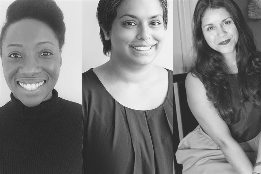 (L-R) Felicia Asiedu, Priya Narain and Gabrielle Austen-Browne