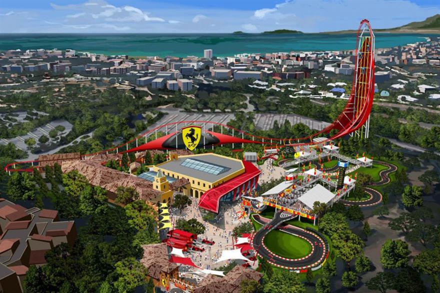 Ferrari Land theme park and hotel planned for Spain (c. Ferrariworld.com)