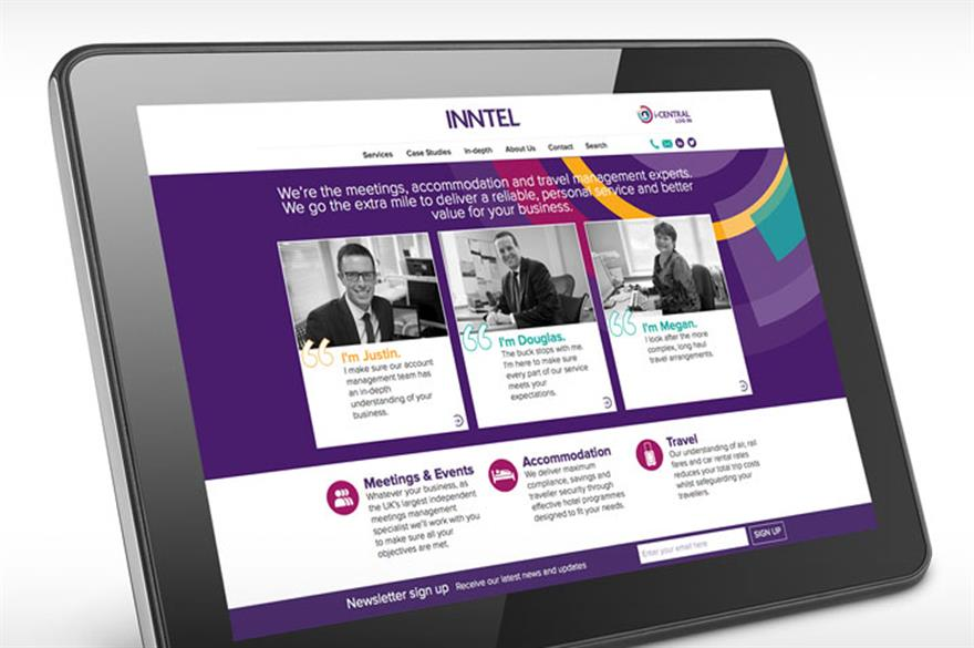 Inntel rebrand: refreshed logo and corporate image
