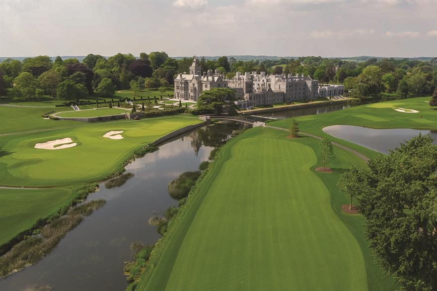 Adare Manor and its golf course