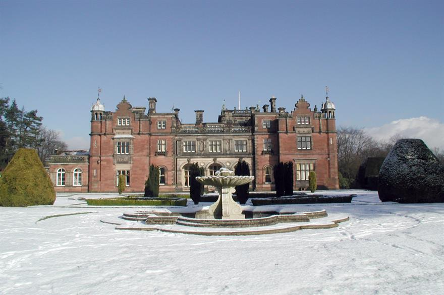 Grade II-listed Keele Hall