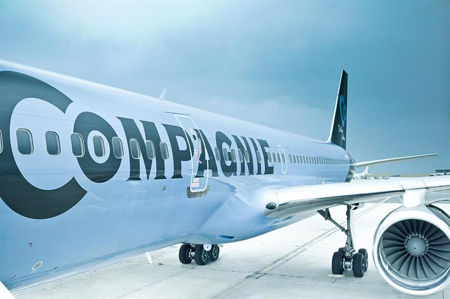 All-business-class service from London to New York makes maiden flight