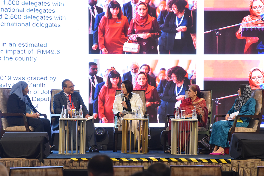 The panel was moderated by Angeline van den Broeke of Kuala Lumpur Convention Centre