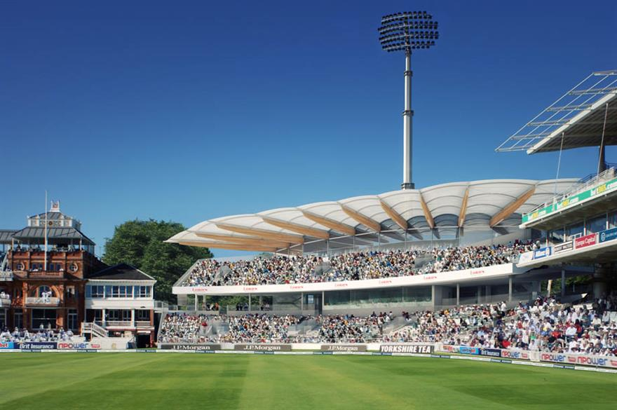 The proposed new Warner Stand (CGI) at Lord's Cricket Ground, London