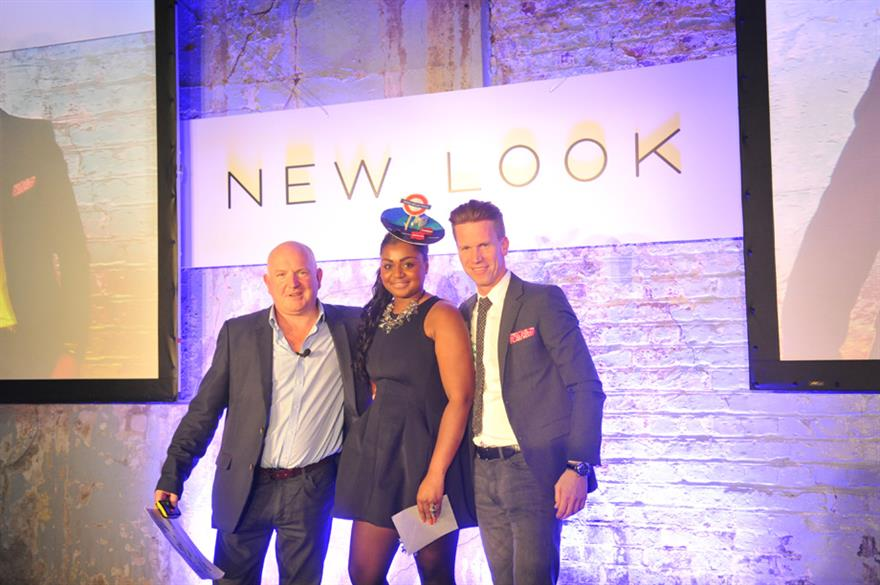 New Look retail operations director Mark Axon and CEO Anders Kristiansen motivate employees ahead of Christmas trading