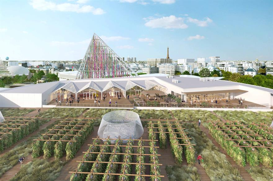 A CGI rendering of how the farm will look