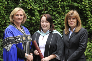 Napier University principal Joan Stringer, student Zophie Horsted and EICC head of marketing Sandy Pearson