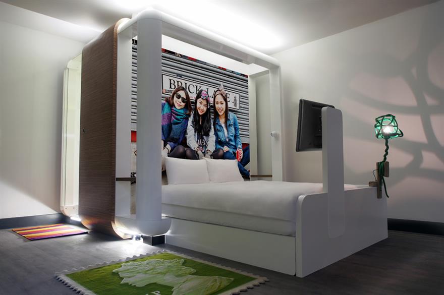 Bedroom at Qbic Hotel London City