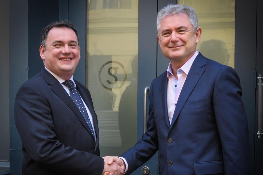 Founder of Moving Venue Richard Beggs and CEO of Smart Group Greg Lawson