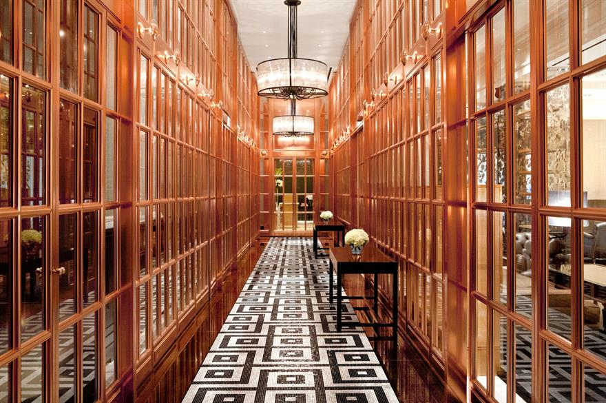 Bronze entrance gallery, Rosewood London hotel