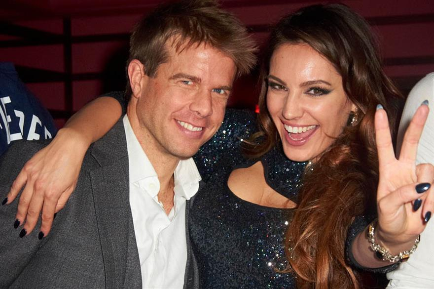 Nick House and Kelly Brook at Steam & Rye London launch