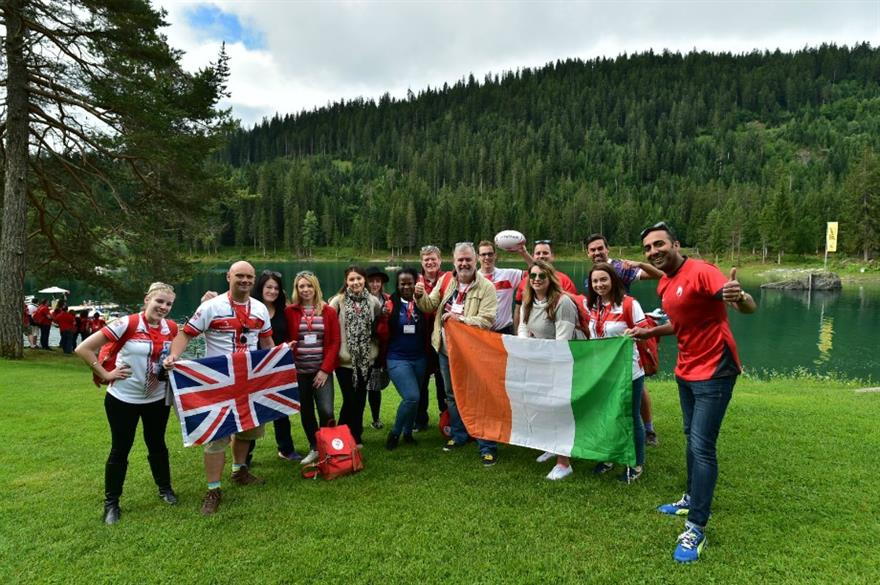 Team GB at this year's Swiss Meeting Trophy