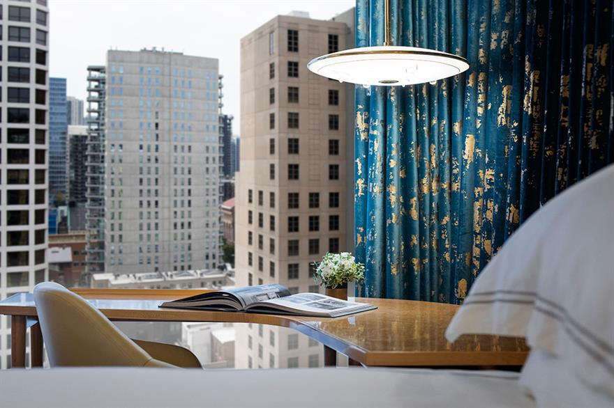 View from one of the rooms in the Viceroy Chicago
