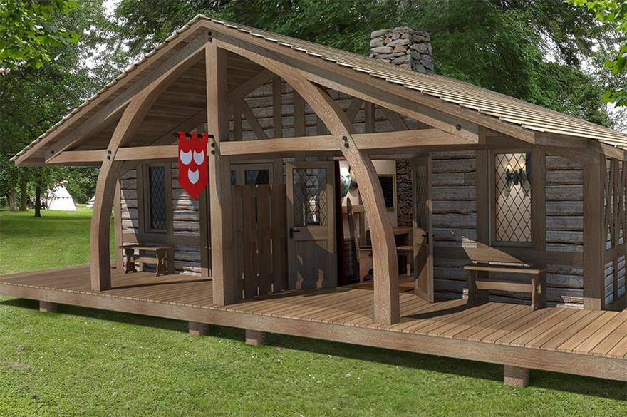 Woodland lodge village to open at Warwick Castle