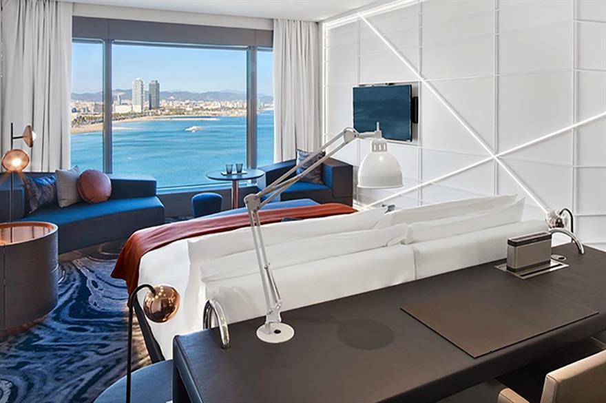 W Barcelona: room renovation unveiled