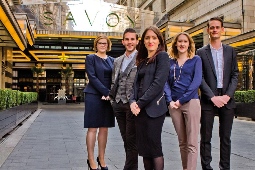 The A List photo shoot took place at The Savoy, London