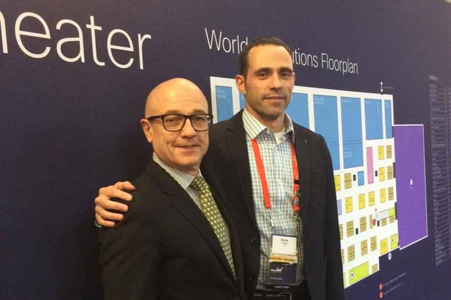 Shapira with GPJ VP of sales and marketing EMEA Kevin Jackson