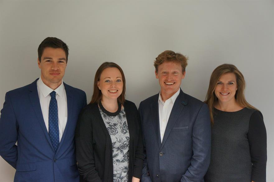 Chris Miles, Nicci Gisby, Alex Dingwall and Carly Mitchell.