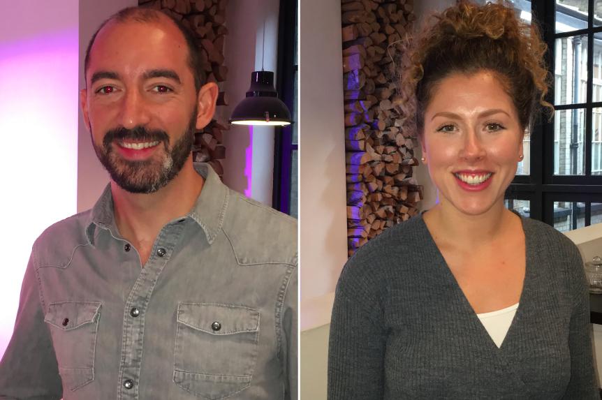 Simon Bull and Leanne Attridge