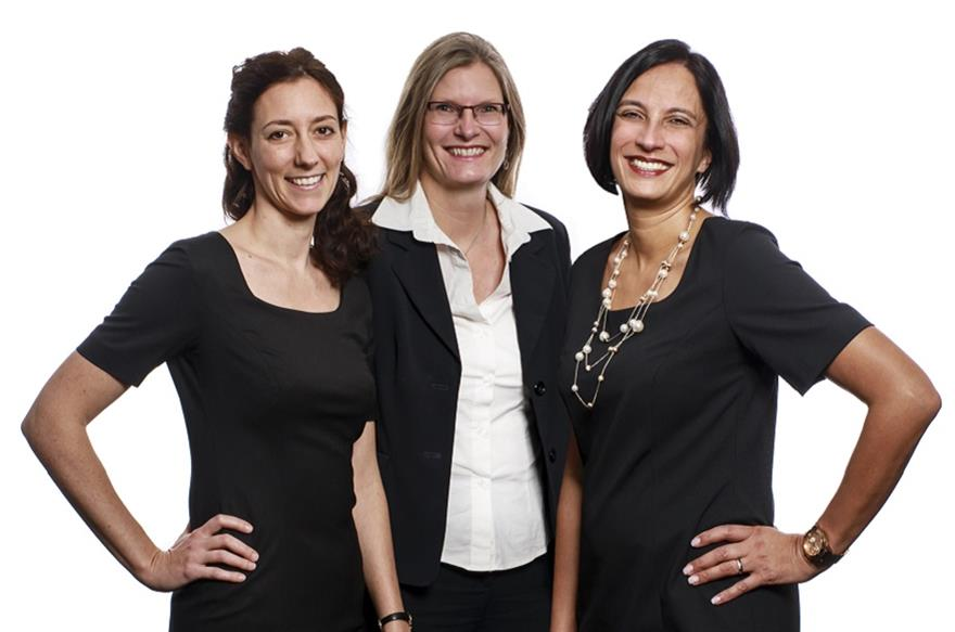 Julia Bicher, Saskia Strahberger and Sabine Adam