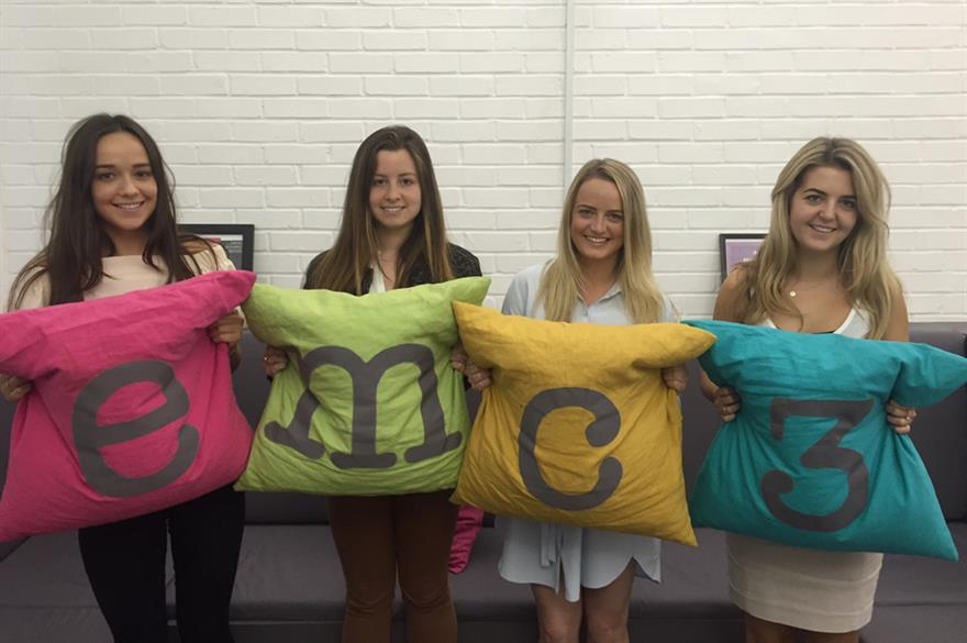 New joiners at emc3: (L-R) Emily Grey, Mariana Croft, Lindsay Wimms and Anna Ford