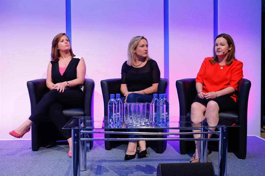 ITV's Kian Hanly, L'Oreal's Alison Williams and IBM's Vikki Bradney-Spencer at Event 360 forum