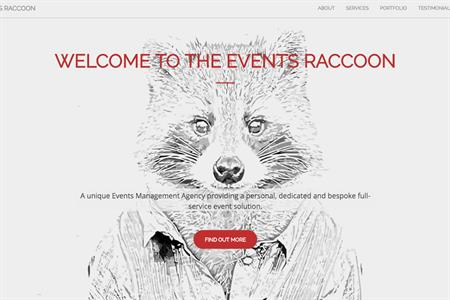 The Events Raccoon website